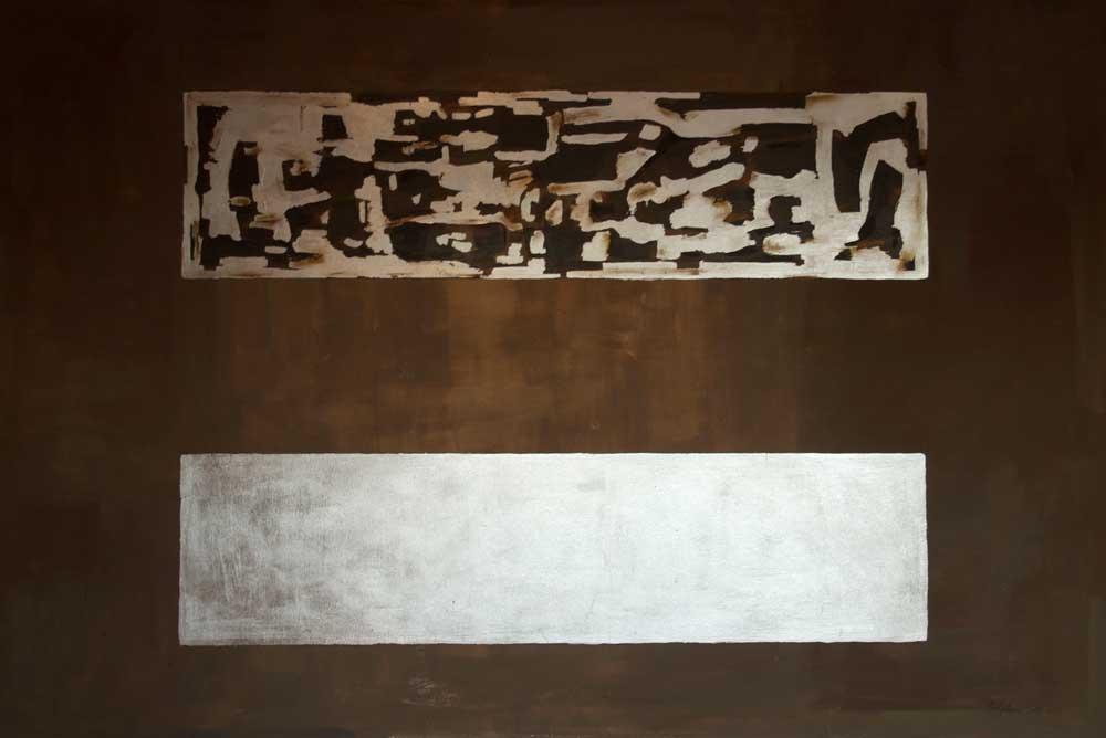 Fregi 2013 – Tecnica mista e foglia d\'argento su tela 150×100 ...
