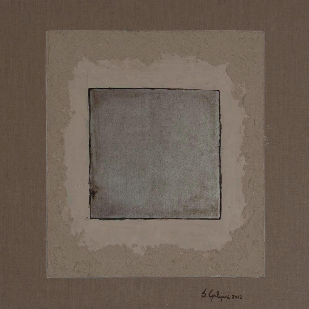 Quadrato I 2013 – Tecnica mista e foglia d\'argento su tela 60×60 ...